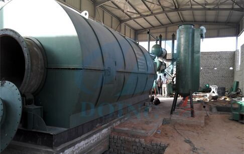 project cases of waste tyre pyrolysis oil distillation plant in