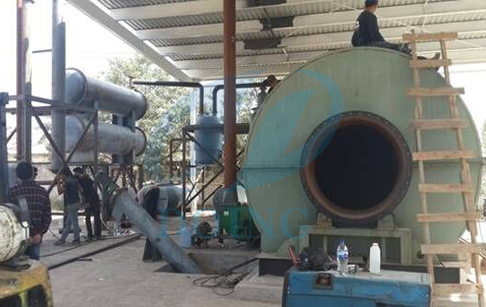 Tyre recycling machine in Mexico