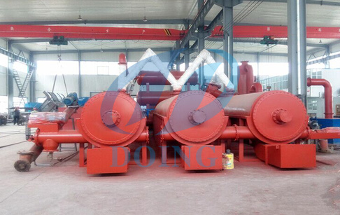 No pollution fully automatic continuous waste tyre pyrolysis