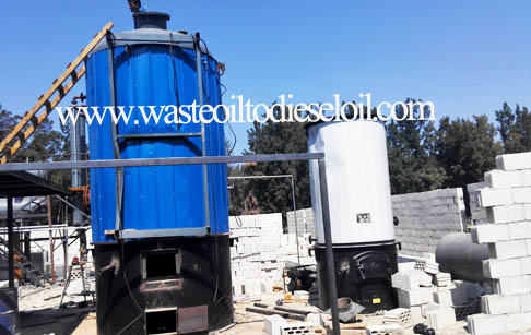 Waste tyre recycling to oil pyrolysis plant working video in Bangladesh