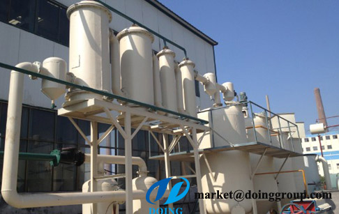 Converting commercial plastic to oil refining plant