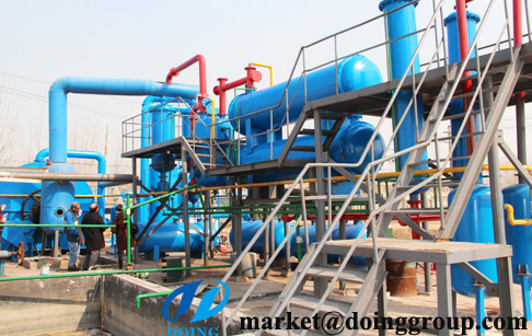 Pyrolysis of plastic to oil process pyrolysis plant