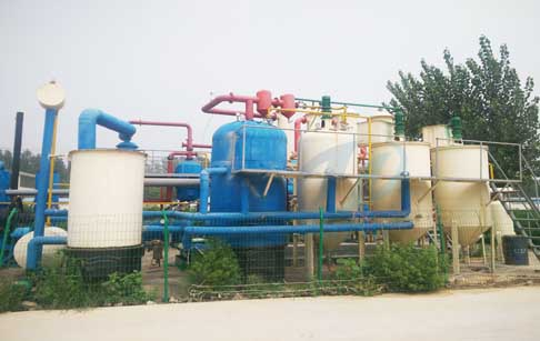 Waste tyre oil to diesel distillation plant
