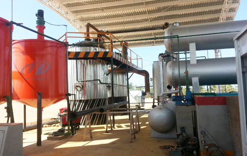 Pyrolysis plastic recycling to oil distillation process plant