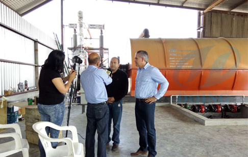 Waste tire pyrolysis plant installed in Mexico by reported video