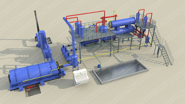 DOING 3D waste tire pyrolysis plant