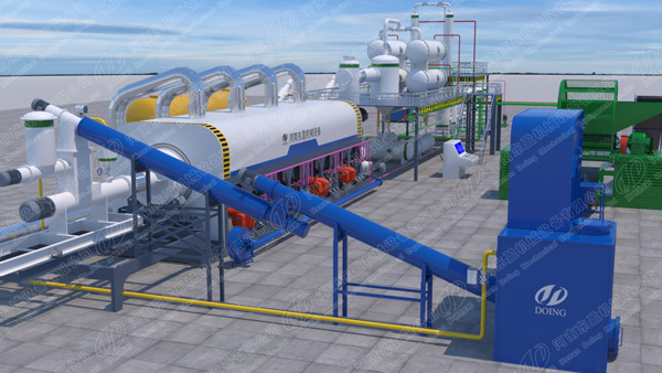 DOING 3D continuous pyrolysis plant