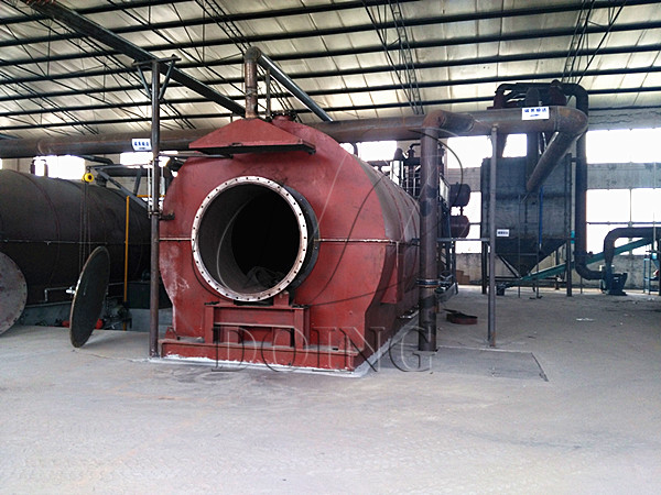 waste tire pyrolysis oil plant