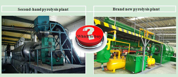 second hand pyrolysis plant for sale