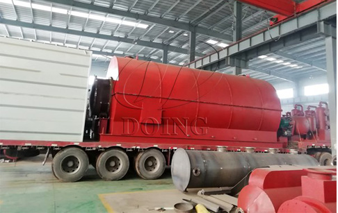 Two sets of waste tyre recycling plant delivered to Anhui, China