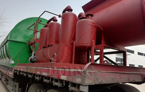 4 sets waste tyre recycling plants delivery to Guizhou, China