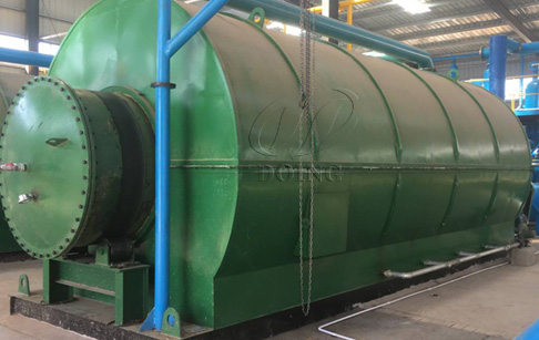 Newly designed waste plastic recycling to oil machine