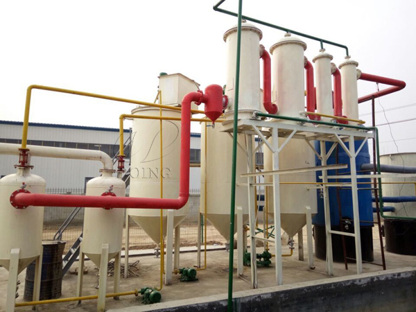 Manufacture of Plastic pyrolysis oil to diesel distillation