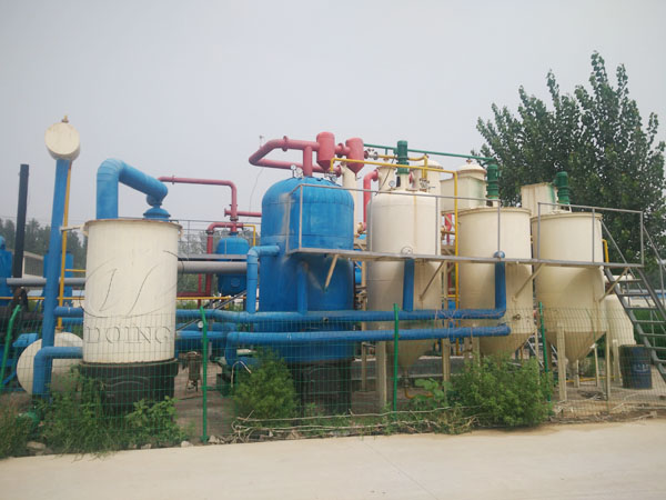 waste oil recycling to diesel plant