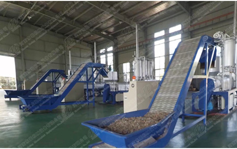 Waste plastic to diesel recycling plant