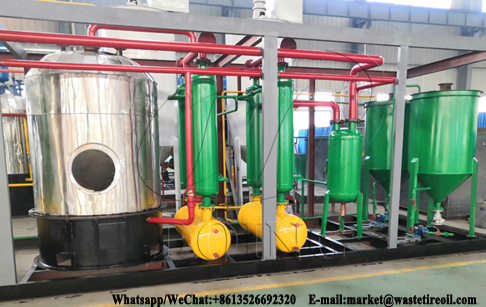 Small capacity 500kg Converting waste motor oil to diesel fuel plant