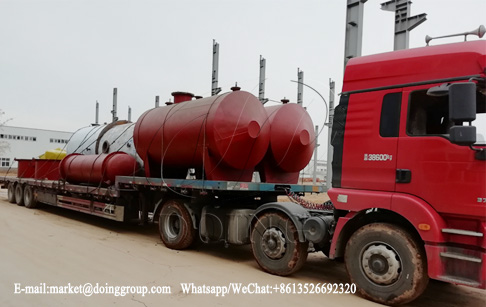 One set 5T waste oil to diesel plant was successfully sent to Mexico