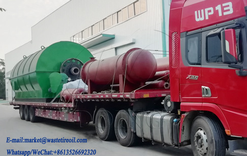 2 sets 12T/D waste tire recycling to oil machine was delivered to Guangxi, China