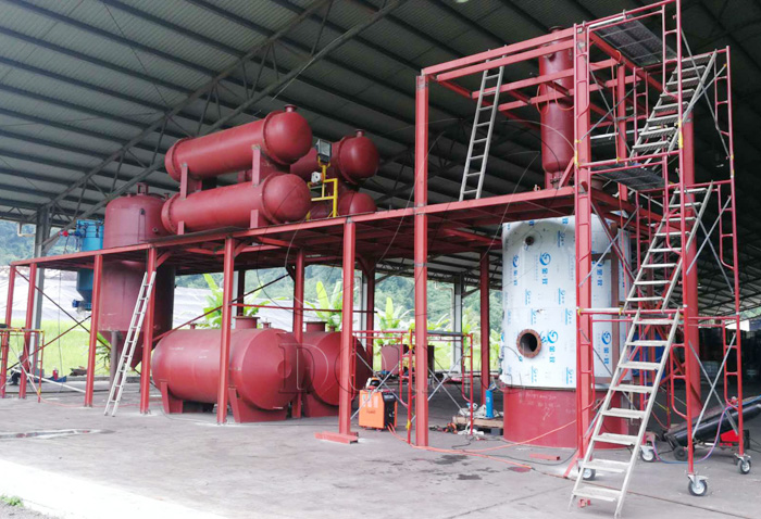 waste oil refinery plant