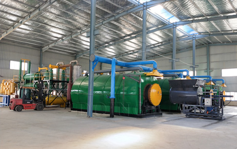 Convert plastic to fuel pyrolysis machine