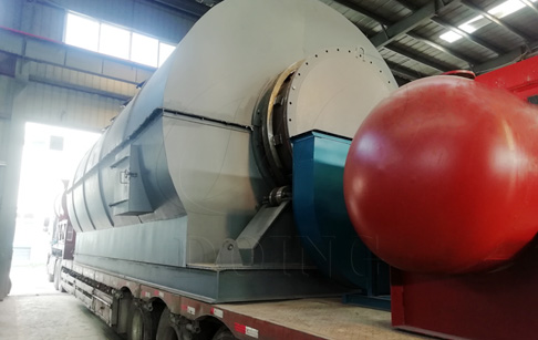 Newly designed waste tyre to fuel oil machine is being delivered to Inner Mongolia, China