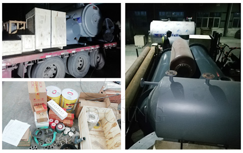 5TPD waste motor oil to diesel plant were delivered to Myanmar from DOING