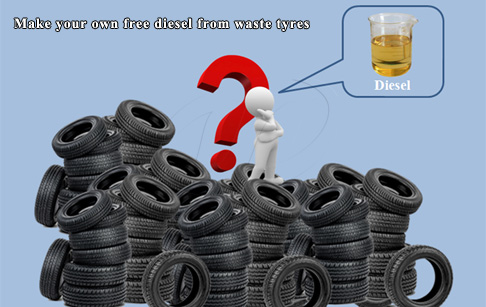 How to make your own free diesel from waste tyres?
