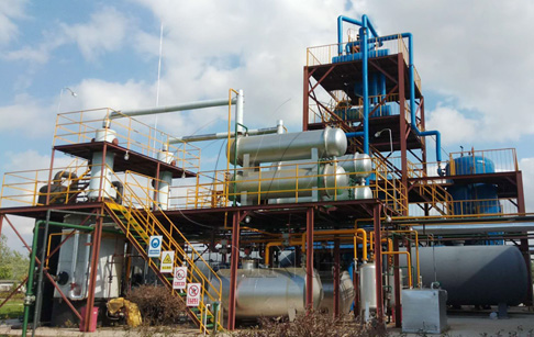 Project reports of pyrolysis oil distillation plant