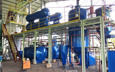 Waste oil distillation plant project installed in Malaysia