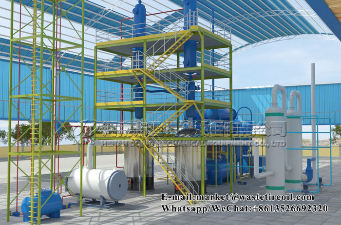 motor oil refining machine