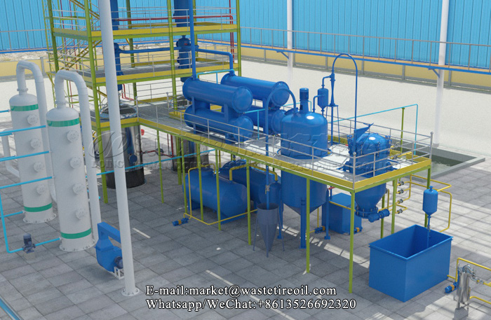 waste oil to diesel machine