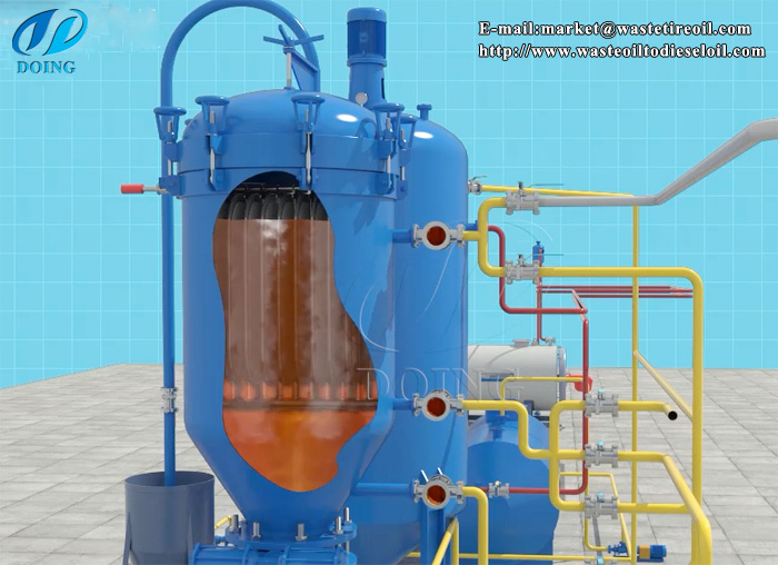 tyre pyrolysis oil color and smell removing system