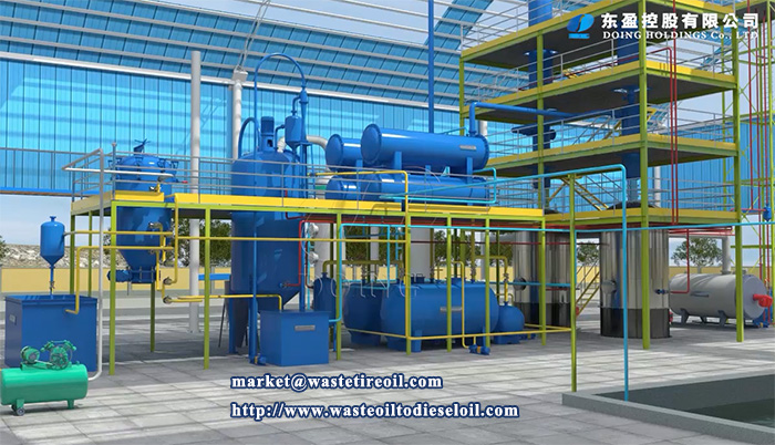 used oil refinery plant