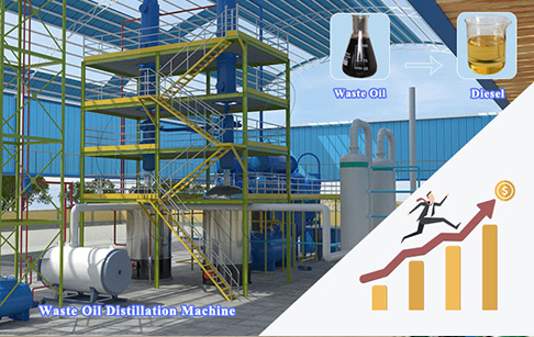 How to improve the diesel oil output of waste oil distillation machine?