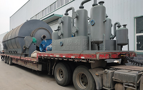6 sets 12T waste tyre to oil plant were sent to Yunnan, China