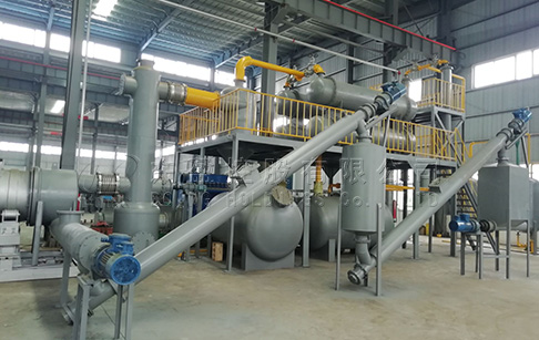 Continuous Process Rubber Tyre Recycling Plant