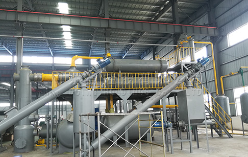 How does the continuous waste tire pyrolysis plant work?