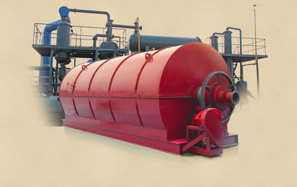 Waste tyre disposal equipment with environmental friendly