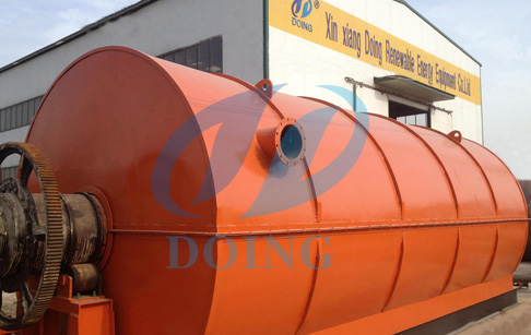 waste tyre to oil pyrolysis plant