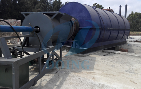 Installation of 10T capacity waste tire pyrolysis plant in Lebanon