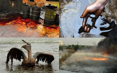 Pollution of the waste oil
